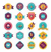 Chinese New Year badge flat banner design flat background set, e — Stockvektor