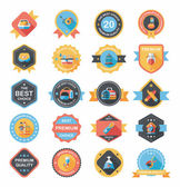 Pet badge flat banner design background set, eps10 — Wektor stockowy