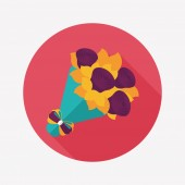 Valentine's Day flower flat icon with long shadow,eps10 — Wektor stockowy