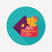 Valentine's day love letter flat icon with long shadow,eps10 — Stock Vector