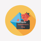 Valentine's day love letter flat icon with long shadow,eps10 — Vecteur