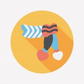Valentine's day scarf flat icon with long shadow,eps10 — Wektor stockowy