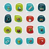 Baby bubble speech banner design flat background set, eps10 — ストックベクタ