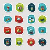 Baby bubble speech banner design flat background set, eps10 — Stock Vector