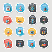 Christmas bubble speech banner design flat background set, eps10 — Stock vektor