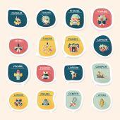 Christmas bubble speech banner design flat background set, eps10 — 图库矢量图片