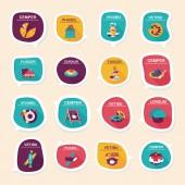 Coffee bubble speech flat banner design flat background set, eps — Vector de stock