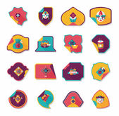 Chinese New Year sticker banner design flat background,eps10 — Vector de stock