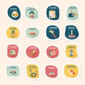Pet bubble speech flat banner design background set, eps10 — Wektor stockowy