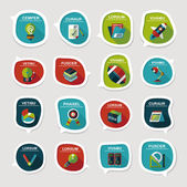 School bubble speech banner design flat background set, eps10 — Wektor stockowy