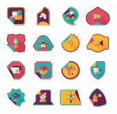 Toy sticker flat banner background set, eps10 — Vector de stock