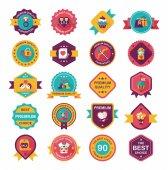 Valentines Day banner flat design backgrouns set,eps10 — Διανυσματικό Αρχείο