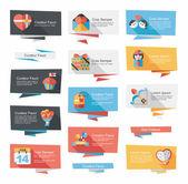 Valentines Day speech bubble banner flat design se eps 10 — ストックベクタ