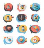 Valentines Day speech bubble banner flat design se eps 10 — Διανυσματικό Αρχείο