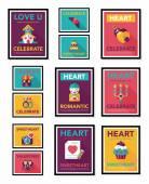 Valentines Day speech bubble banner flat design se eps 10 — Stock Vector