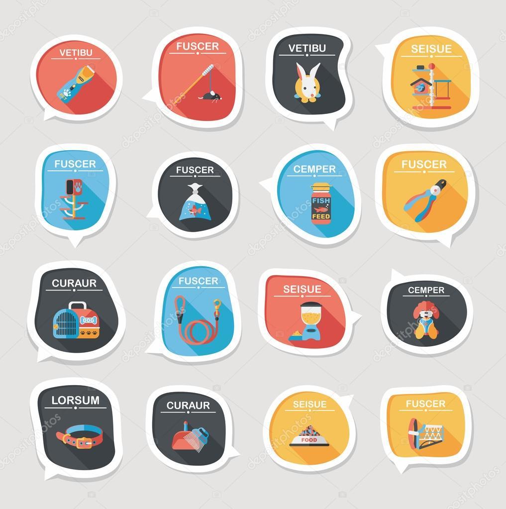 宠物泡沫语音平横幅设计背景设置,eps10