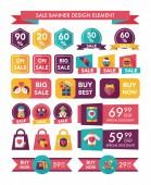 Valentines Day speech bubble banner flat design se eps 10 — Vector de stock