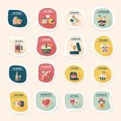 Valentinesets Day ui flat design background set, eps10 — Stockvektor