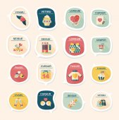 Valentinesets Day ui flat design background set, eps10 — Vetor de Stock