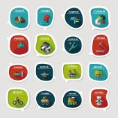 Valentinesets Day ui flat design background set, eps10 — Stockvector