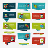 Valentinesets Day ui flat design background set, eps10 — Stockvector