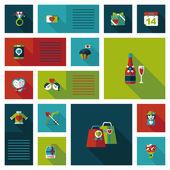 Valentinesets Day ui flat design background set, eps10 — Vecteur