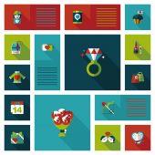 Valentinesets gün Ui düz tasarım arka plan ayarlamak, eps10 — Stok Vektör