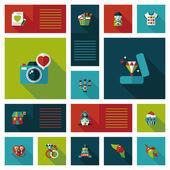 Valentinesets Day ui flat design background set, eps10 — 图库矢量图片