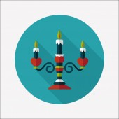 Valentine's Day candle flat icon with long shadow,eps10 — Stockvektor