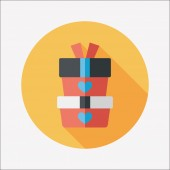 Valentines Day tag banner flat design background set, eps10 — Vector de stock