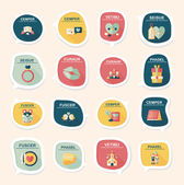 Valentines Day tag banner flat design background set, eps10 — Διανυσματικό Αρχείο