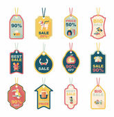 Pet tag flat banner design background set, eps10 — Vector de stock