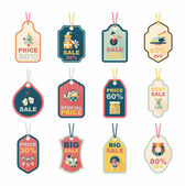 Christmas tag flat banner background set,eps10 — Wektor stockowy