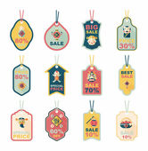 Chinese New Year tag flat banner background set, eps10 — Stok Vektör