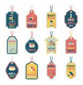 Pet tag flat banner design background set, eps10 — Vector de stock