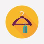 Shopping clothes hanger flat icon with long shadow,eps10 — Vector de stock