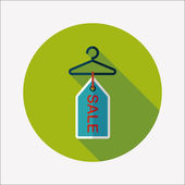 Shopping clothes hanger flat icon with long shadow,eps10 — Stock Vector