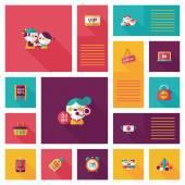 Shopping flat app ui background,eps10 — Stock Vector