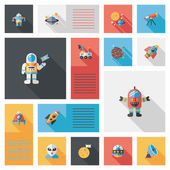 Space flat app ui background,eps10 — Stock Vector