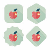 Apple flat icon with long shadow,eps10 — ストックベクタ