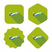 Spaceship flat icon with long shadow,eps10 — Stockvektor