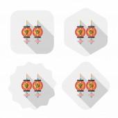 Chinees nieuwjaar platte pictogram met lange schaduw, eps10, chinese festi — Stockvector