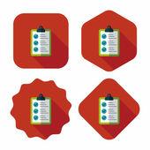 Scorebord platte pictogram met lange schaduw, eps10 — Stockvector