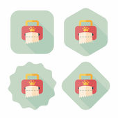 Pet style tissue case flat icon with long shadow,eps10 — Stock Vector