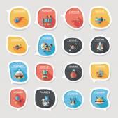 Space speech bubble flat design background set, eps10 — Vettoriale Stock