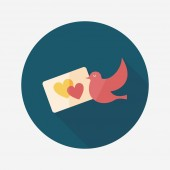 Wedding invitation flat icon with long shadow,eps10 — Cтоковый вектор