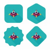Propose diamond ring flat icon with long shadow,eps10 — Cтоковый вектор