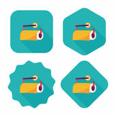 Kitchenware paper flat icon with long shadow,eps10 — Stock Vector