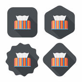 Kitchenware tissue paper flat icon with long shadow,eps10 — Stock Vector