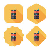Mobile phone flat icon with long shadow,eps10 — Stock Vector